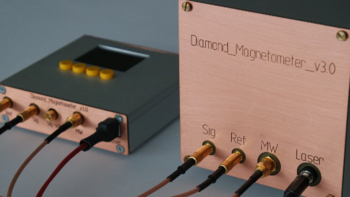 First compact diamond magnetometer.